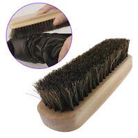 Practical Horse Hair Professional Shoe Shine Boot Polish Buffing Brush Wooden