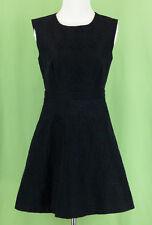 292 J.Crew Petite women black sleeveless fit and flare dress EUC 4 P