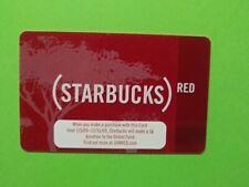 "Starbucks gift card 2008 ""STARBUCKS RED""A BEAUTY~ MEGA RARE~MINT~ NO VALUE~ VHTF"