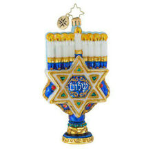 """Radko Rich With Tradition 5 1/2"""" Hannukah Ornament 1019553"""