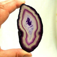 Purple Agate Slice with Quartz Crystal Polished Geode Slice 9cm x 4.5cm