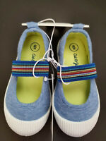 NWT Cat & Jack Slip On Shoes Blue Little Girl Size 6