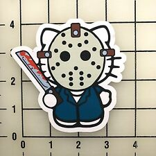 "Hello Kitty Jason 4"" Tall Color Vinyl Decal Sticker BOGO"