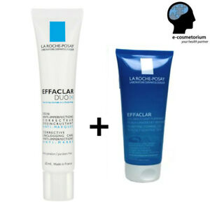 La Roche Posay Effaclar Duo [+] 40ml + Foaming Gel 200ml; Anti-Acne Treatment