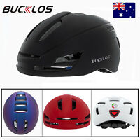 BUCKLOS Mountain Bike Adult Aero Helmet L USB Rechargeable Safety Box Bag Given