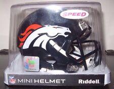 NFL FOOTBALL SPEED MINI FOOTBALL HELMET  DENVER BRONCOS By RIDDELL