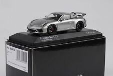 Porsche 911 991 GT3 2017 gt-silbermetallic Black Grey Rims 1:43 Minichamps