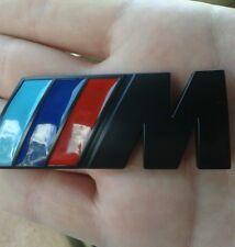 For BMW M Power Car Emblem Black Badge Decal  3D Metal (Medium) Fast Shipping