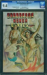 BARBARIAN WOMEN COMICS #1 CGC 9.4 OW/W -- 2nd Highest Graded; only 3 on Census