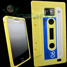 Custodia silicone GIALLA per Samsung Galaxy S2 i9100 e S2 Plus Cassetta morbida