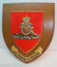 Vtg Canadian Royal Regiment of Artillery Plaque UBIQUE QUOFAS ET GLORIA DUCUNT