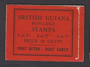 BRITISH GUIANA 1945-49 24c COMPLETE BOOKLET SB9b.