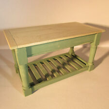 Dollhouse miniature handpainted, wooden kitchen table ~ 12th scale