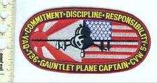Military Patch USN VAQ-136 Gaunlets EA-6B Plane Capt.