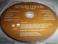 Simple Minds-Neon Lights! Mint Advance Promo Edition Cd 2001