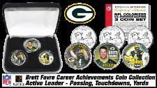 BRETT FAVRE 4 GREEN BAY PACKERS NFL FOOTBALL STATE QUARTERS COINS NEW