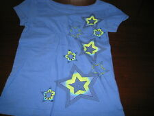 Girl's SO XS/S blue Star pattern short sleeve shirt