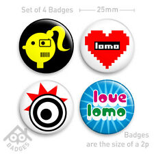 LOMO LC-A + Holga Diana Lomography Camera Badge - Set of 4 x 25mm Badges Set 2