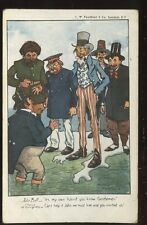 Political JOHN BULL Island artist drawn Moreland Free Trade satire c1904 PPC