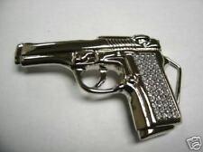 Famous Star Pistol Gun Rhinestone cowboy belt buckle