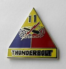 THUNDERBOLT 11TH ARMORED DIVISON US ARMY LAPEL PIN BADGE 1 INCH