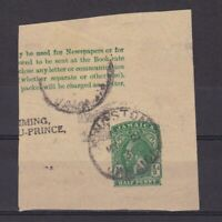 JAMAICA, Postal stationery, Part of newspaper wrapper, Used 1931