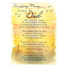 In Loving Memory Open Graveside Memorial Card - Special Dad