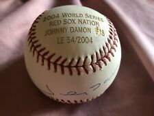 2004 World Series Red Sox Nation Johnny Damon #18 Autographed Ball 54/2004