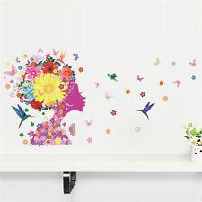 2016 Fée Fleur Filles Princesse Art Vinyle Autocollant Mural Décoration