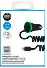 Fast 3.4A Car Charger Cable Dual Extra USB Port For iPhone 11 X 8 7 6 Plus iPad
