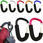 2X BUGGY CLIPS PRAM PUSHCHAIR STROLLERS SHOPPING HANDY BAG HOOK MUMMY CARRY CLIP