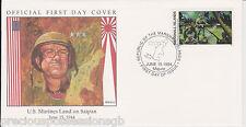 W76 1-1 Islas Marshall Cubierta 1994 marines EE. UU. FDC tierra en Saipan 1944