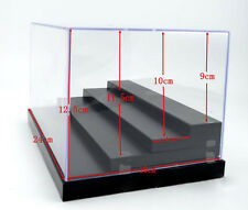 "Clear Acrylic Display Case Plastic Tray 4Steps Box 9.8""L Dustproof Protection 01"