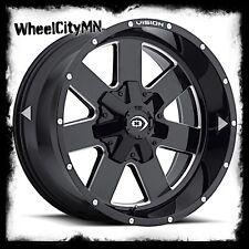 17 inch black milled Vision ARC 411 wheels rims fits Nissan Titan 17x9 6x5.5 +12