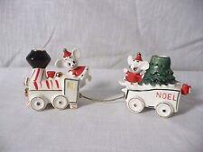 Vintage Lego Mouse Train NOEL  Christmas Candle Holder