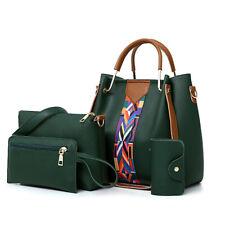 4PCS Elegant Lady Women Leather Handbag Shoulder Hobo Bag Satchel Purse Tote Set