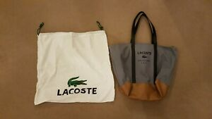 Lacoste Large Bag Grey used once