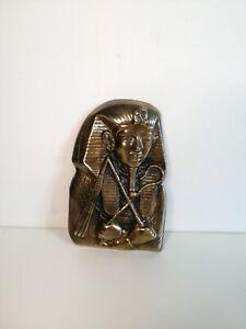 Tutankhamun Egypt Pharaoh Wall Statue Bronze Design Resin Sculpture