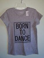 Children's Place Girls 7/8 10/12 14 16 T-Shirt DANCE Ballet JAZZ Gray TEE #20817