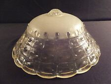 ART DECO CHAIN MOUNT GLASS LAMP SHADE  CEILING LIGHT COVER