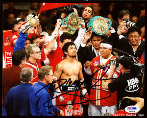 MANNY PACQUIAO AUTHENTIC AUTOGRAPHED SIGNED 8X10 PHOTO PSA/DNA 191559