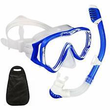 Wacool Snorkeling Snorkel Package Set for Kids Youth Junior, Anti-Fog Coated Gla