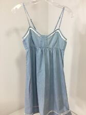 ABERCROMBIE & FITCH WOMEN'S DENIM BABY DOLL DRESS LIGHT BLUE XS NWT $68
