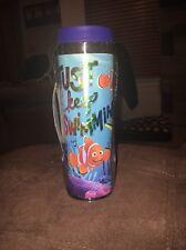 Disney Finding Dory Nemo Travel Mug Just Keep Swimming Brand New 16 oz Tumbler