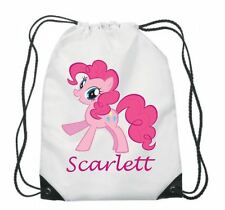 PERSONALISED GYM BAG, DRAWSTRING, SWIMMING, PE, SPORT, SCHOOL, ANY NAME, PONY 1