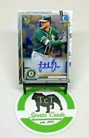 2020 Bowman Chrome MLB Baseball Rookie Autograph Seth Brown RC Oakland Athletics