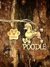 Poodle Christmas Ornament & 2 FREE MAGNETS