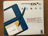 FREE DS GAME INCLUDED - Nintendo DSi XL Blue Handheld System ( GOOD, Plus Box)