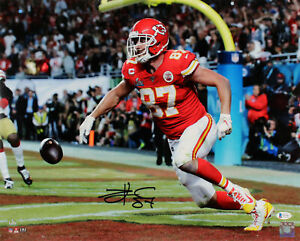 Chiefs Travis Kelce Authentic Signed 16x20 SB LIV Horizontal Photo BAS #WE59637