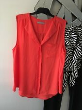KATIES Orange Sleeveless Camisole Top Blouse 16 14